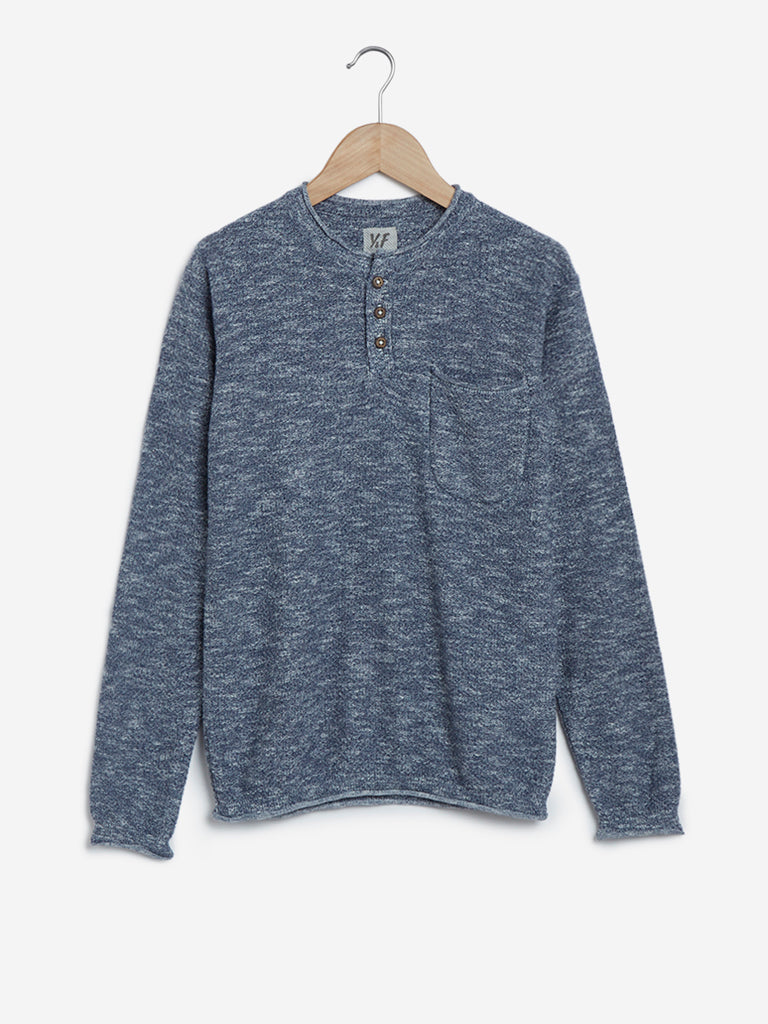 Y&F Kids Grey Knitted Crewneck T-Shirt