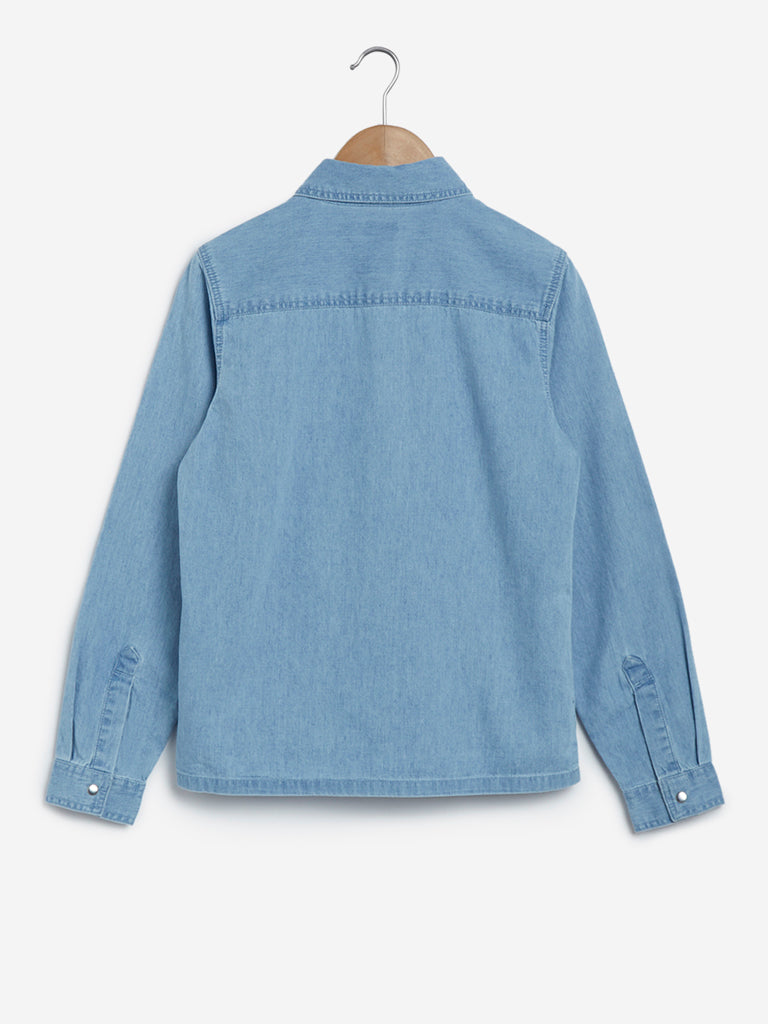 Y&F Kids Light Blue Denim Shirt