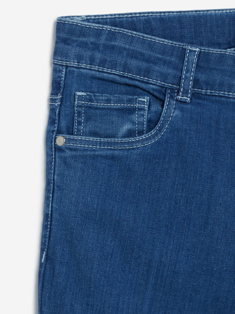 Y&F Kids Blue Two-Toned Jeans