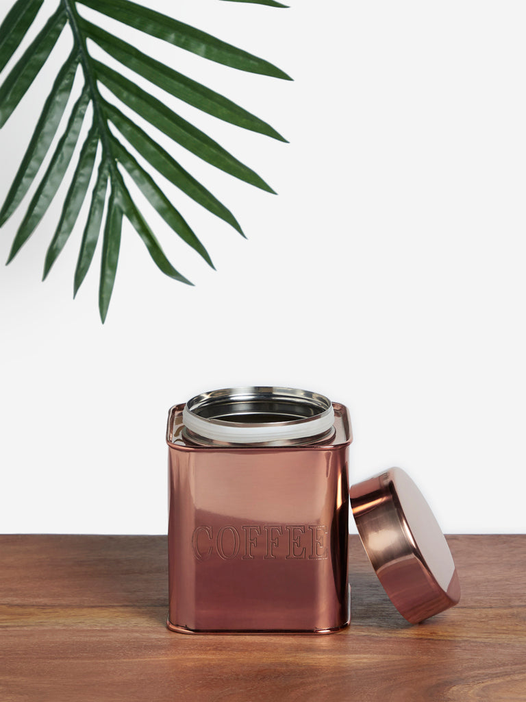 Westside Home Rose Gold Coffee Jar