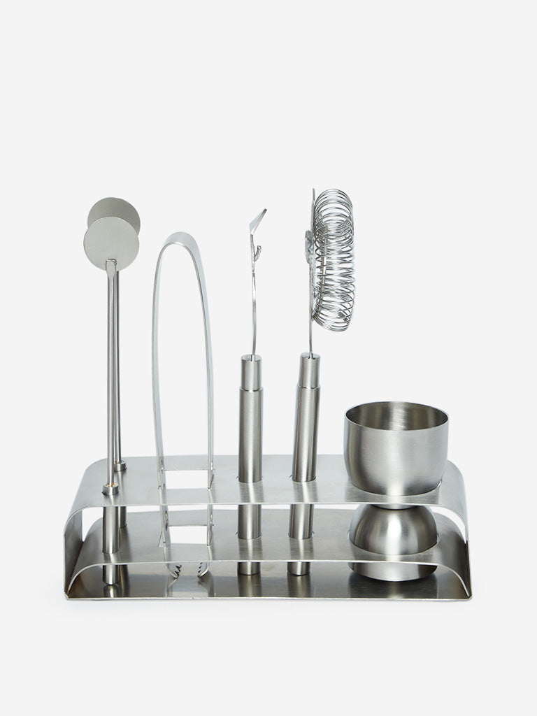 Westside Home Silver Bar Accessories Set of Five