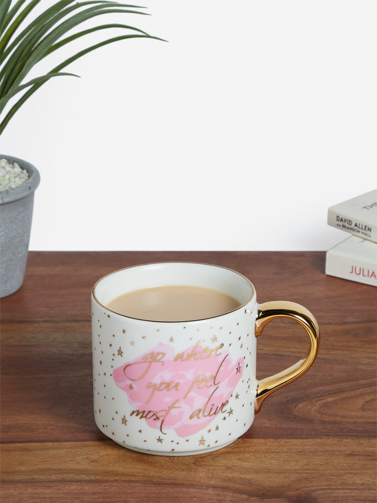 Westside Home Multicolour Text Printed Tea Cup