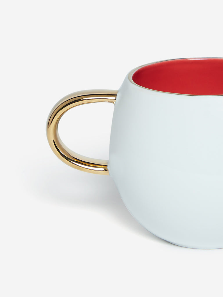 Westside Home White And Red Round Tea Cup