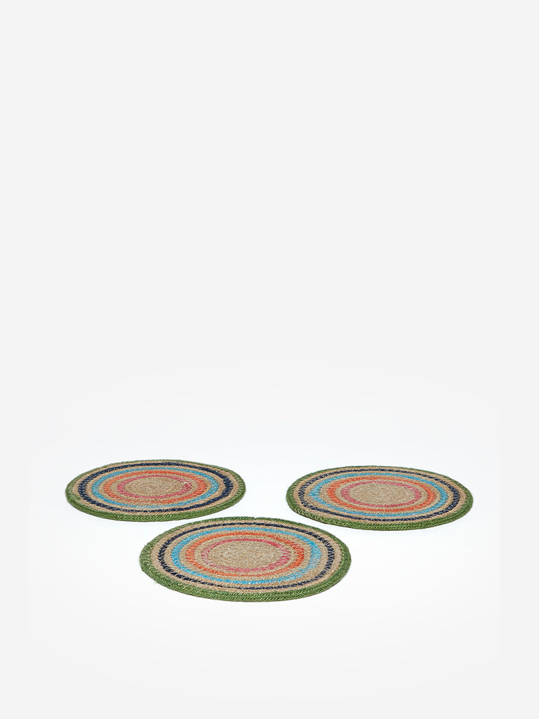 Westside Home Multicolour Woven Trivets Set of Three