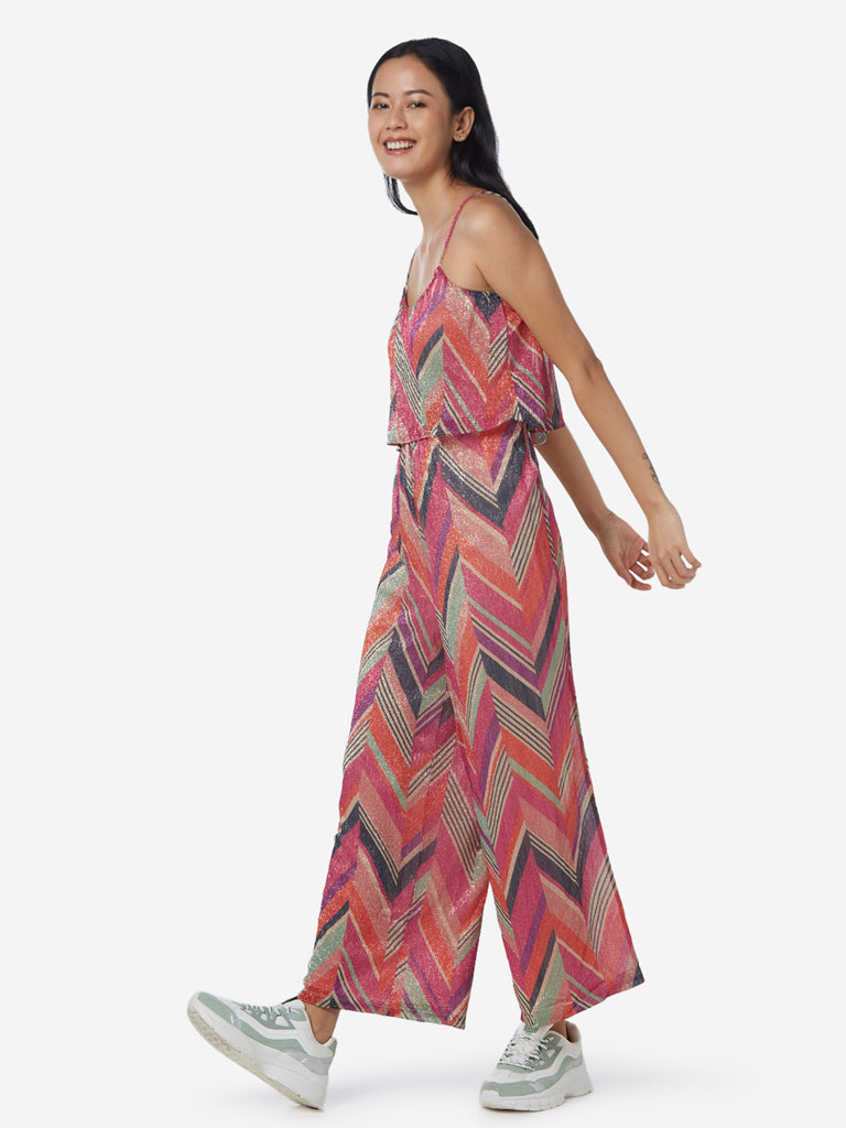 Nuon Multicolour Polar Chevron Print Jumpsuit