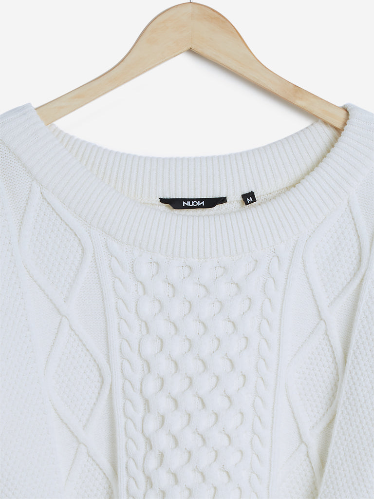 Nuon Off White Knitted Malvo Sweater