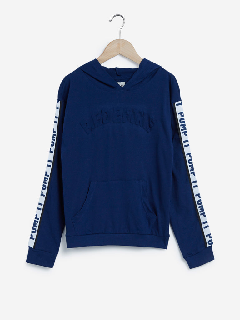 Y&F Kids Indigo Hooded Sweatshirt