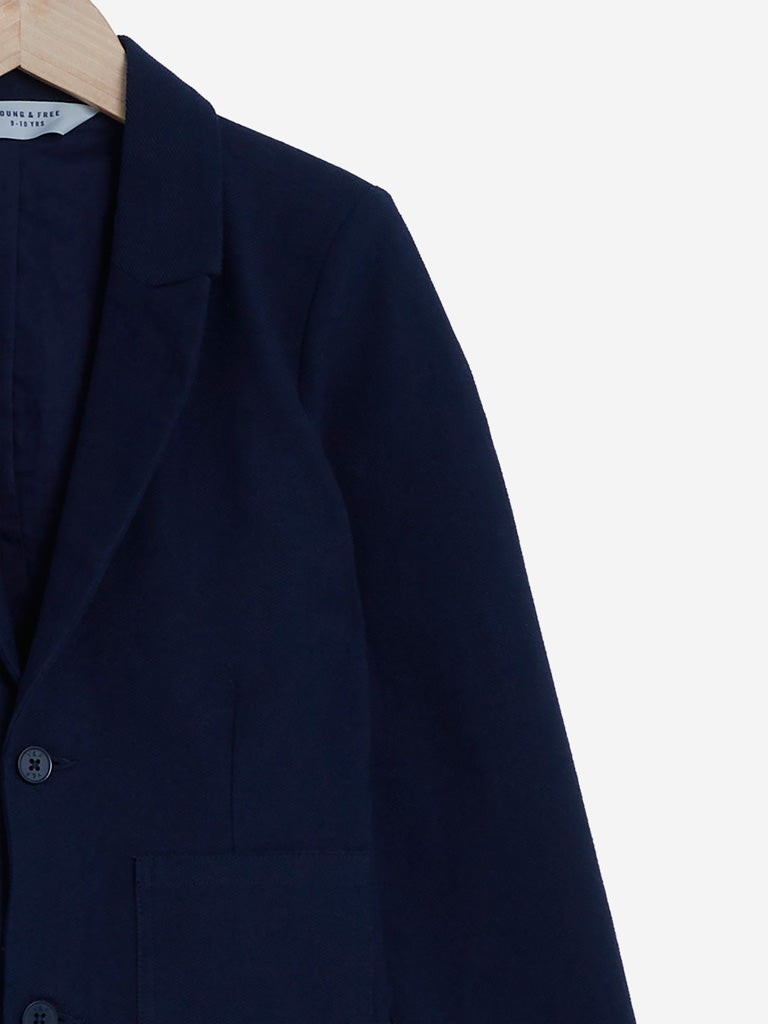 Y&F Kids Navy Pure Cotton Jacket