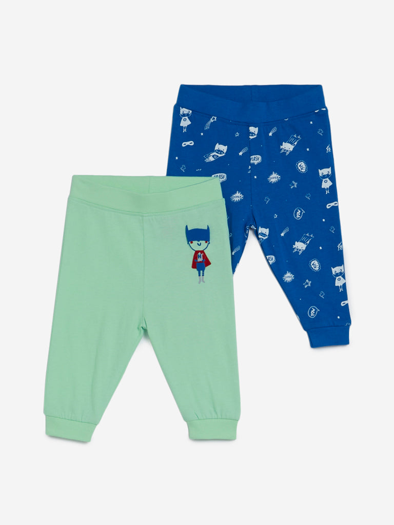 Baby HOP Light Green Hero Joggers Set of Two