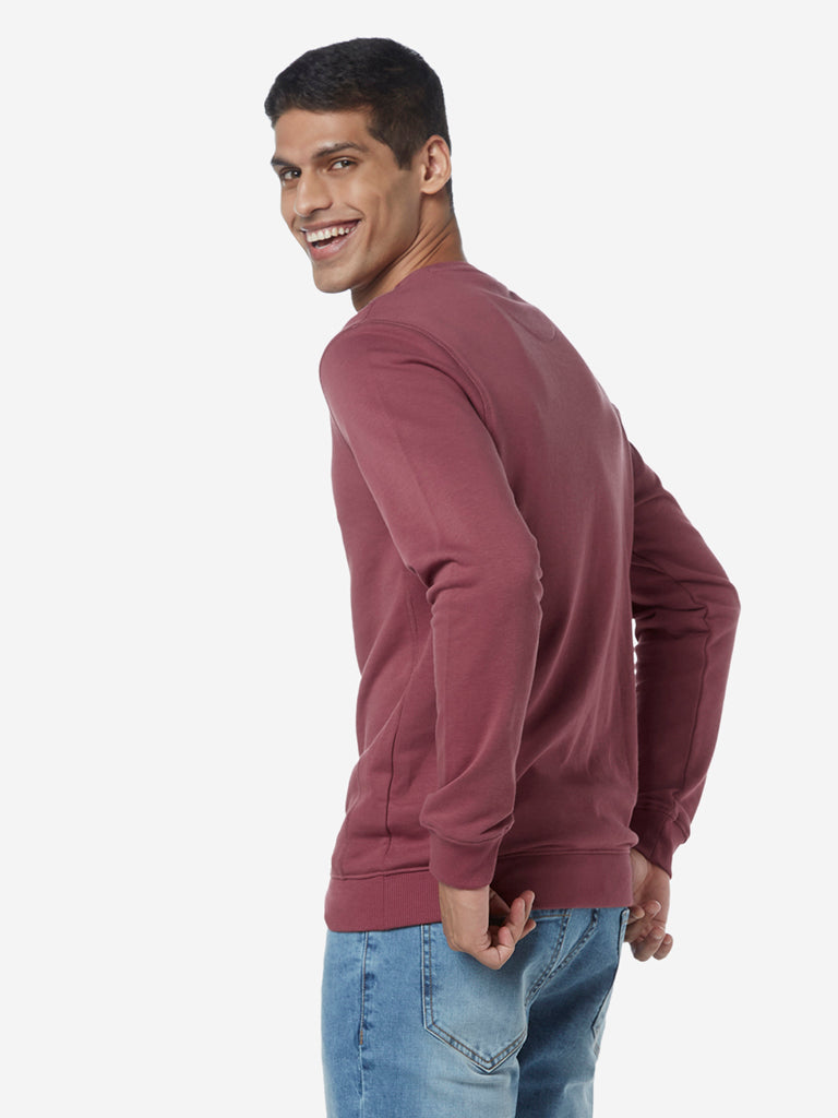 WES Casuals Dusty Pink Relaxed Fit T-Shirt