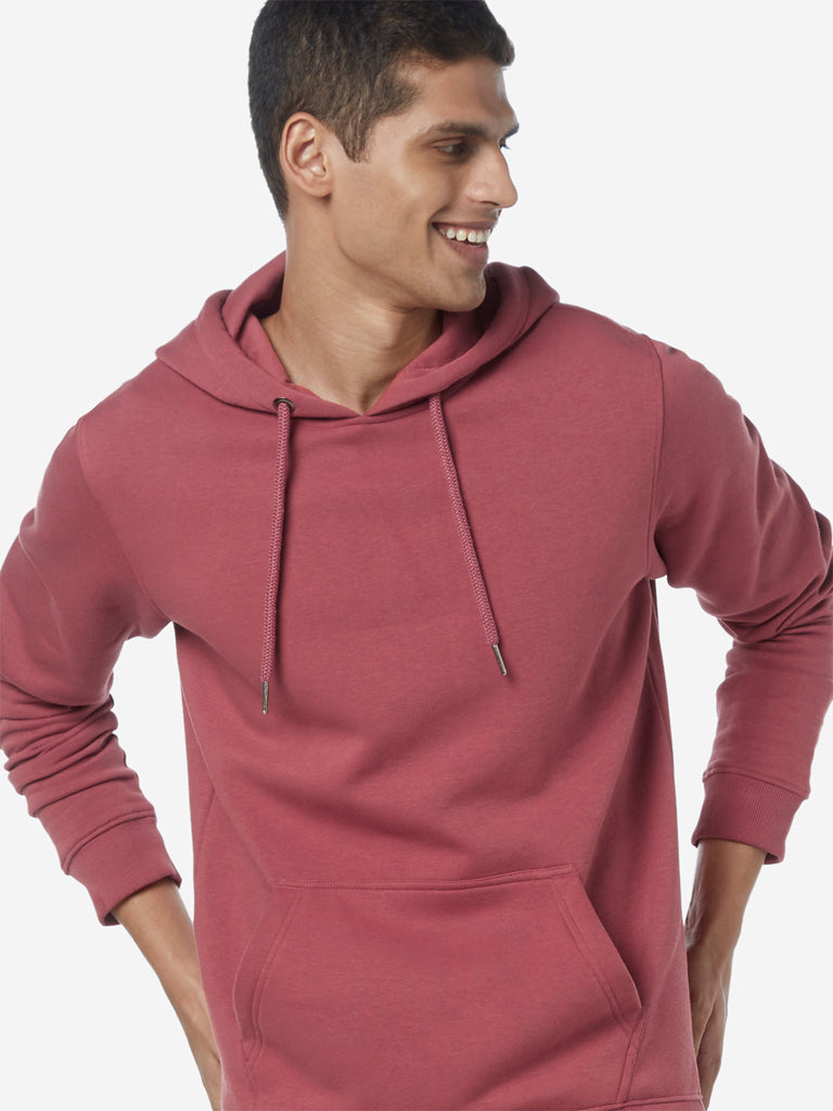 WES Casuals Dusty Pink Relaxed Fit Sweatshirt