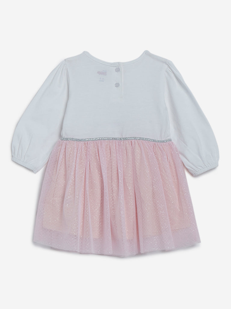 Baby HOP Light Pink Fit-And-Flare Bunny Dress