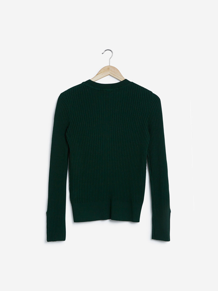 Wardrobe Dark Green Hardware Design Top