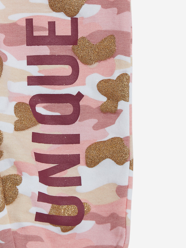 HOP Kids Pink Camouflage Print Joggers