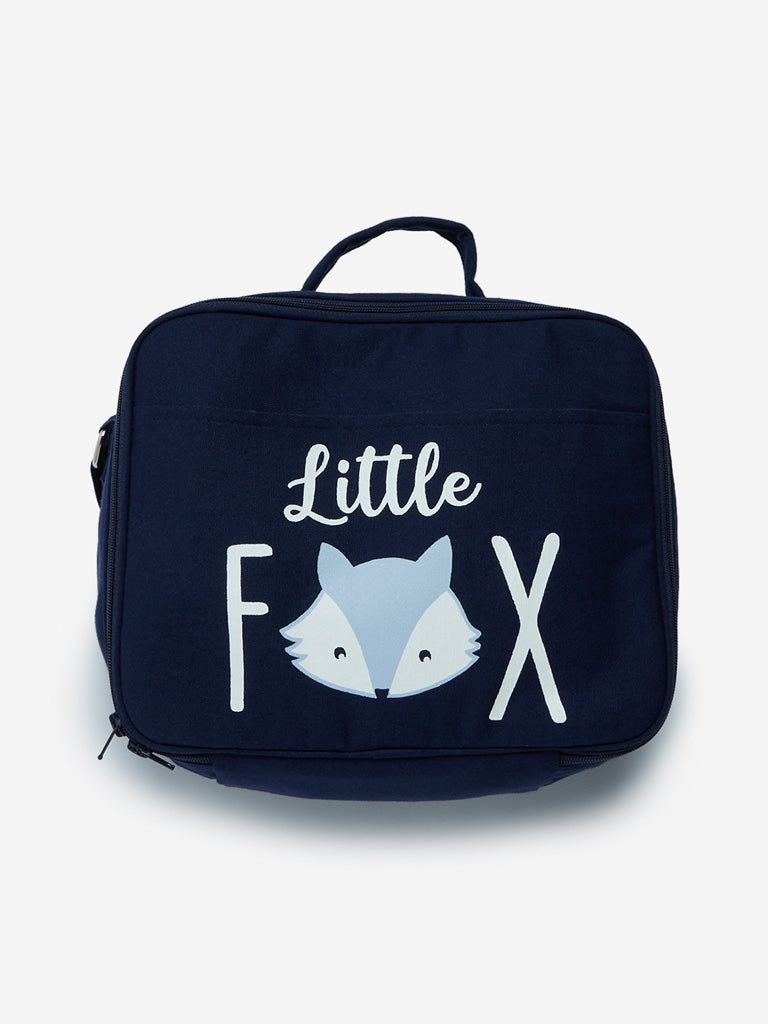 Baby HOP Dark Blue Text Printed Changing Bag