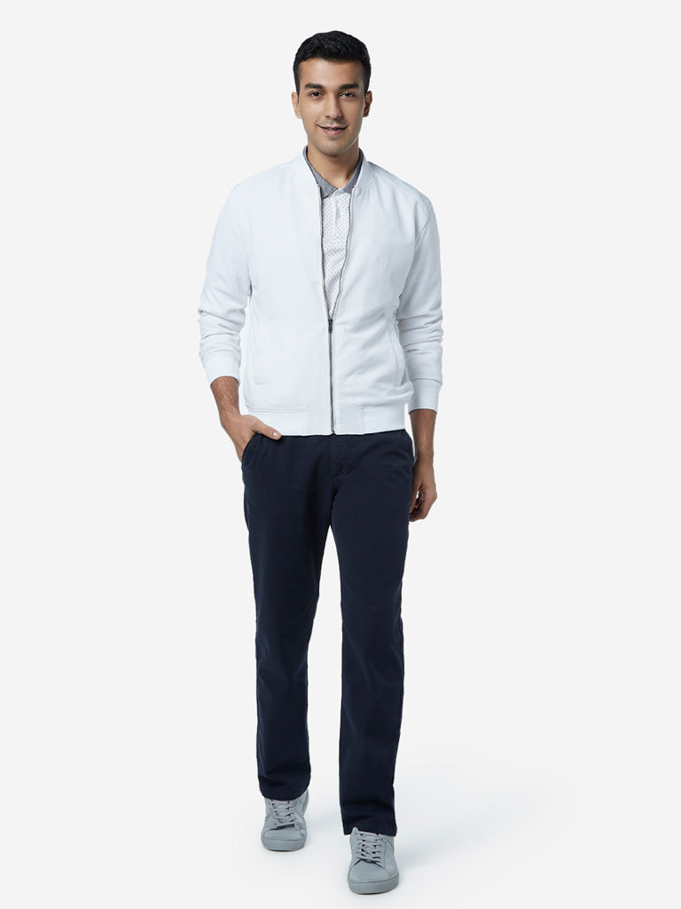 Ascot White Relaxed Fit Jacket