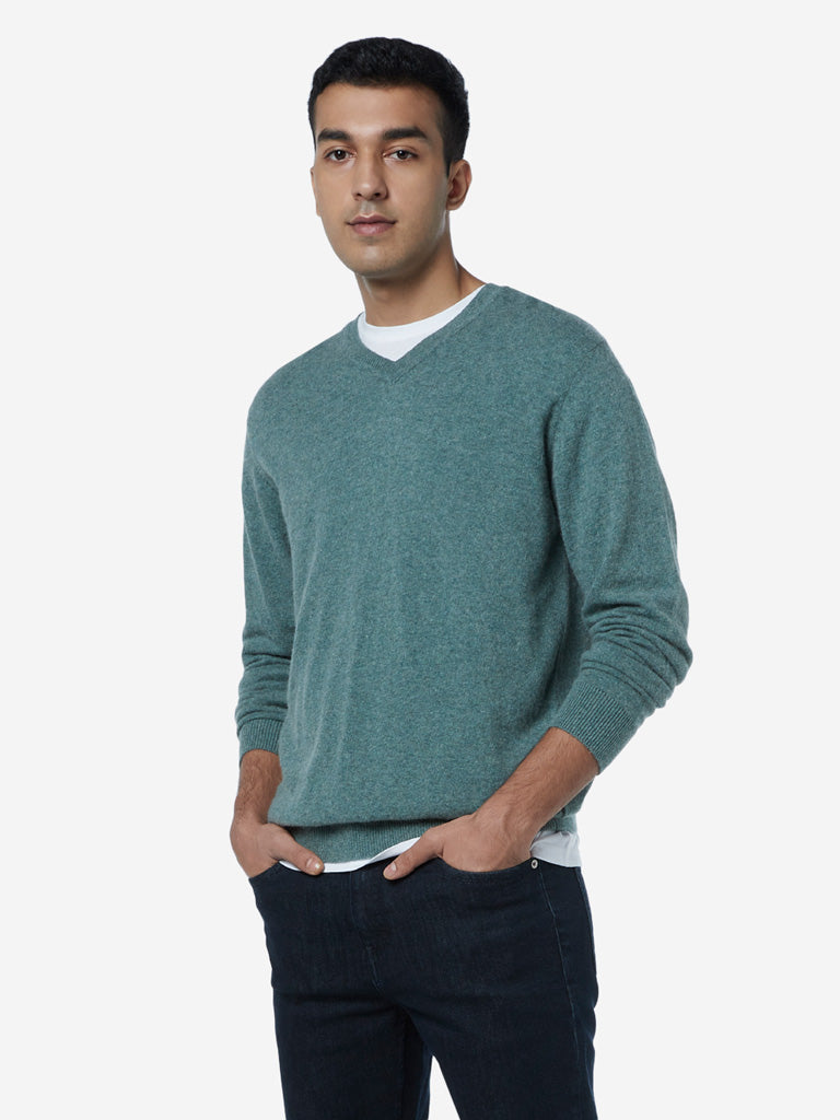 Ascot Sage Green Relaxed Fit Sweater