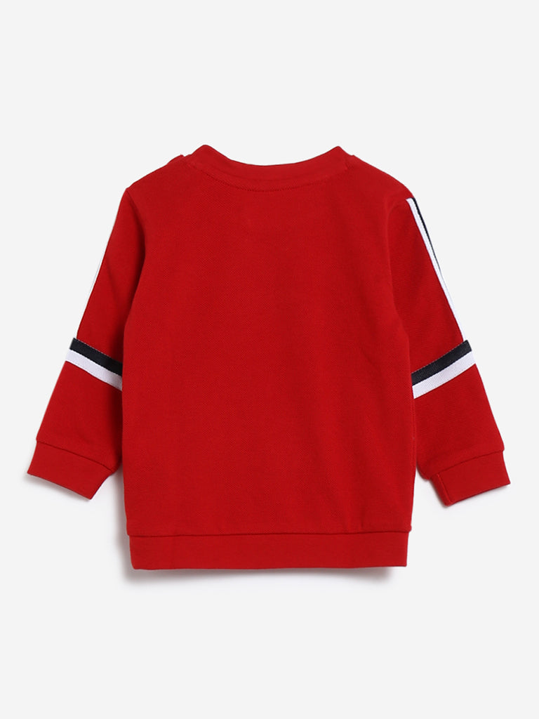 Baby HOP Red Text Design Sweatshirt