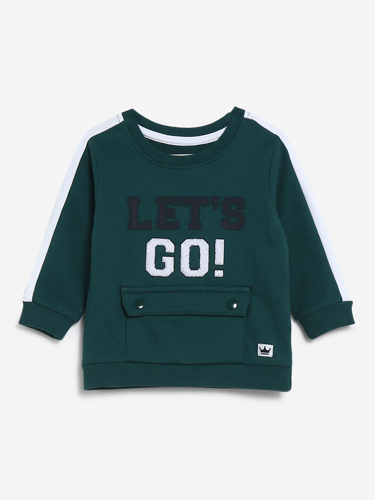 Baby HOP Green Text Design Sweatshirt