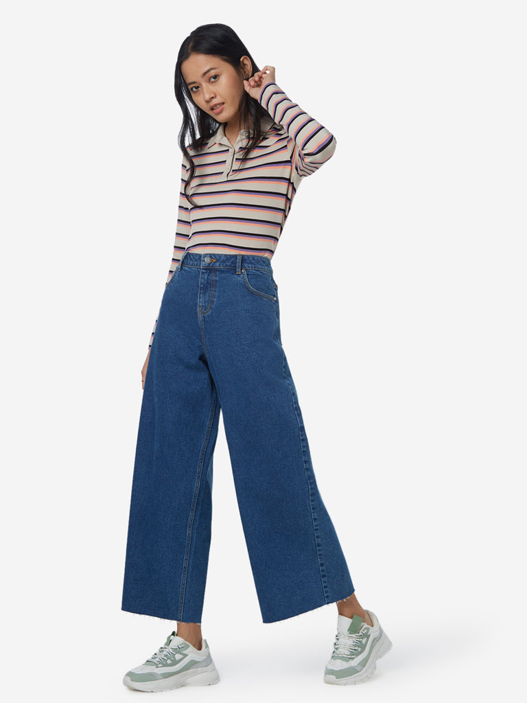Nuon Blue Flared Jeans