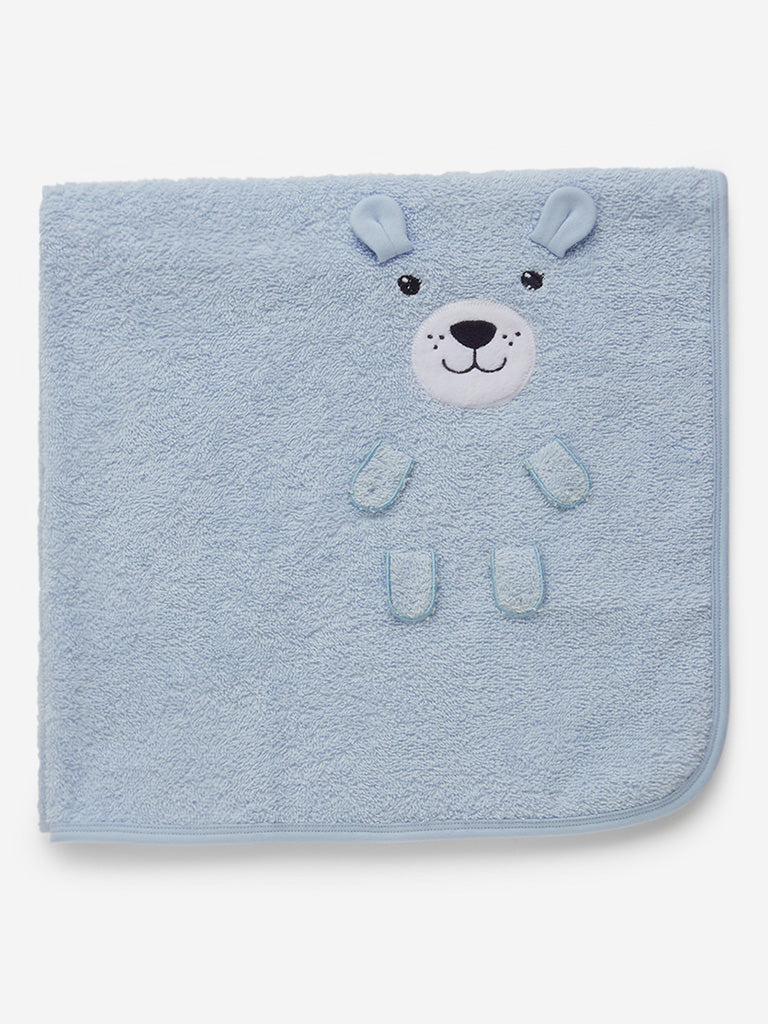 Baby HOP Blue Bear Design Towel