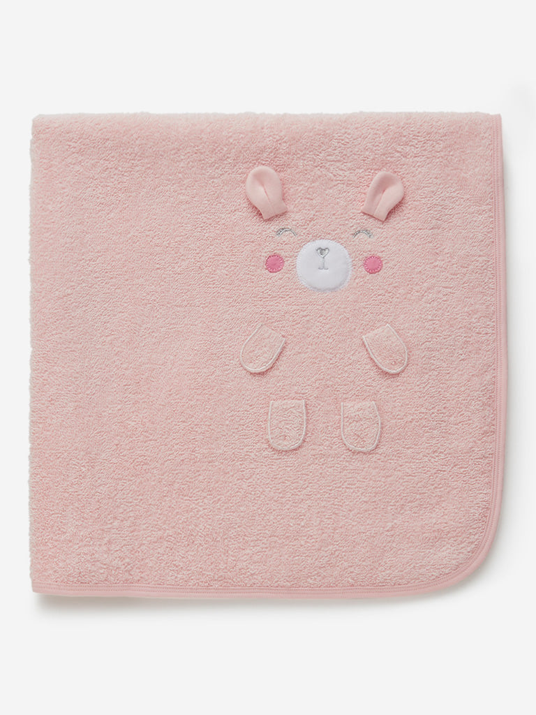 Baby HOP Pink Bear Design Towel