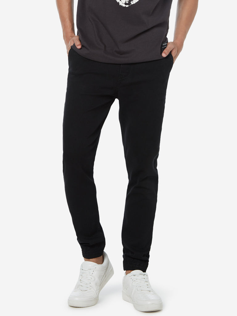 Nuon Black Rodeo Carrot Fit Joggers