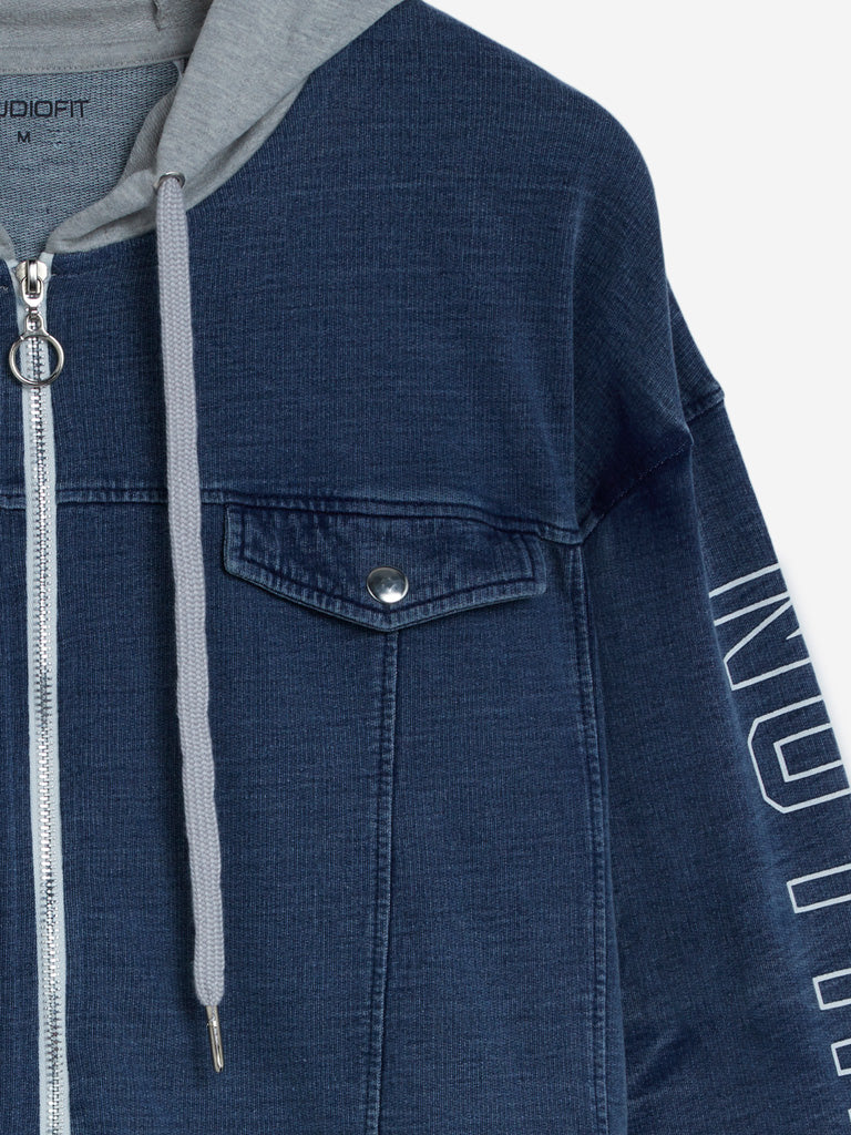 Studiofit Blue Denim Hooded Jacket