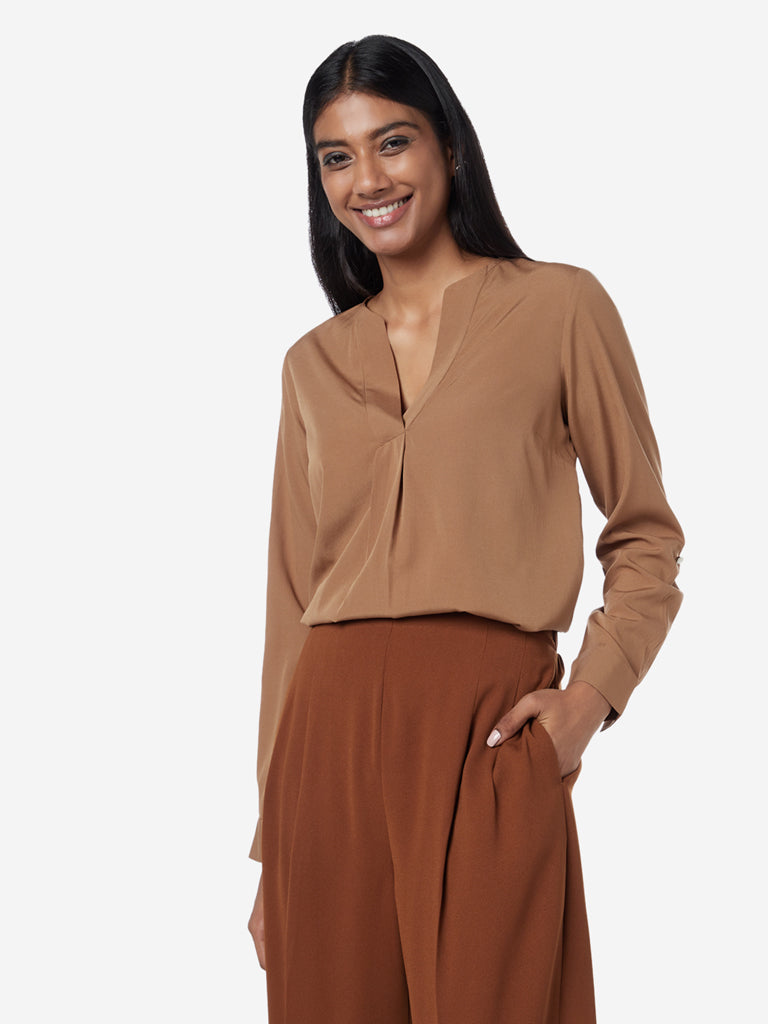 Wardrobe Dark Beige Bridget Blouse