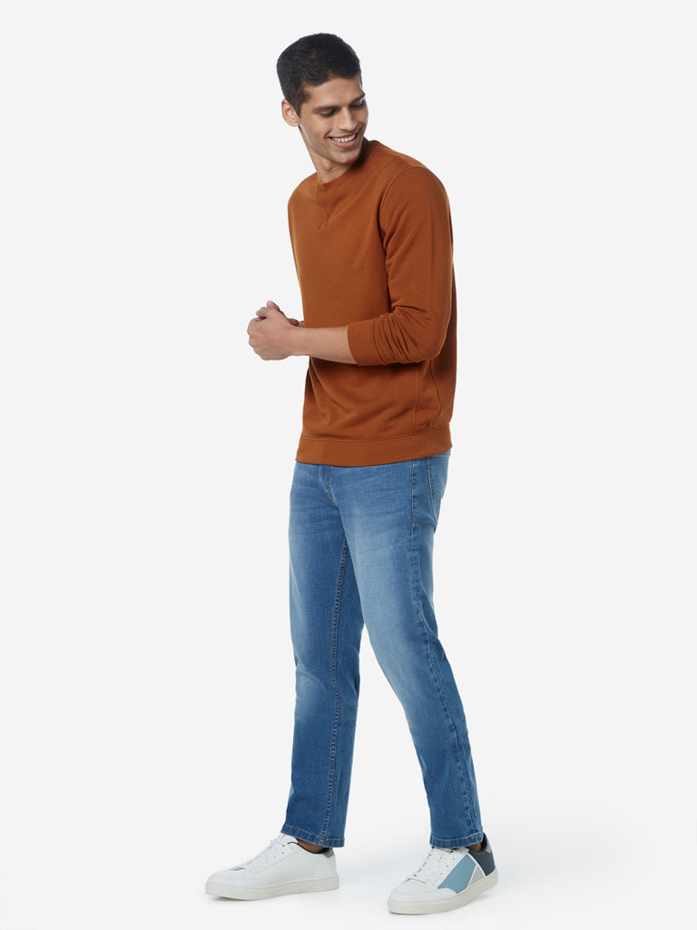 WES Casuals Light Blue Relaxed Fit Jeans