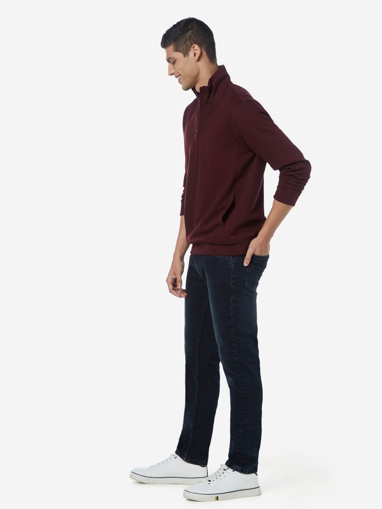 WES Casuals Black Faded Slim Fit Jeans