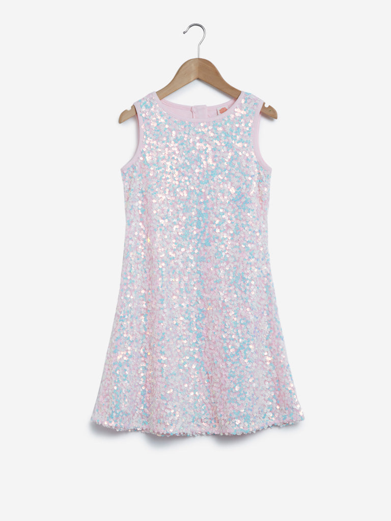 Y&F Kids Pink Sequinned Dress