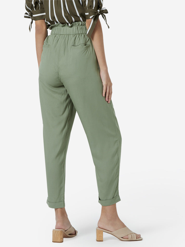LOV Green Paperbag Trousers