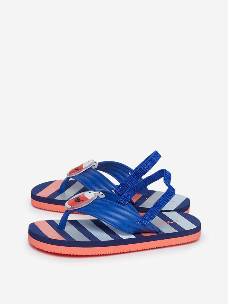 Yellow Blue Striped Sandals