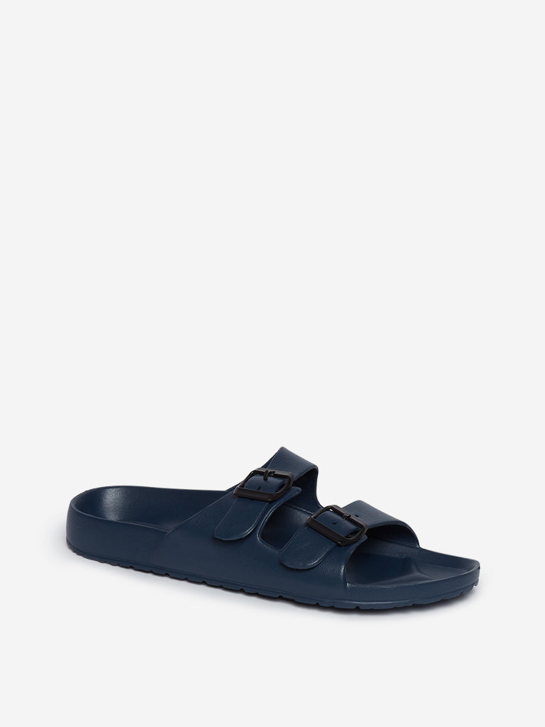 SOLEPLAY Navy Buckle-Detailed Sandals