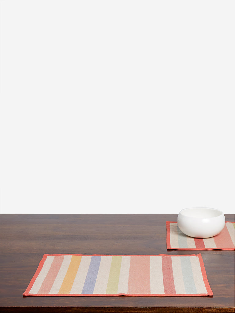 Westside Home Multicolour Striped Placemats Set of Four