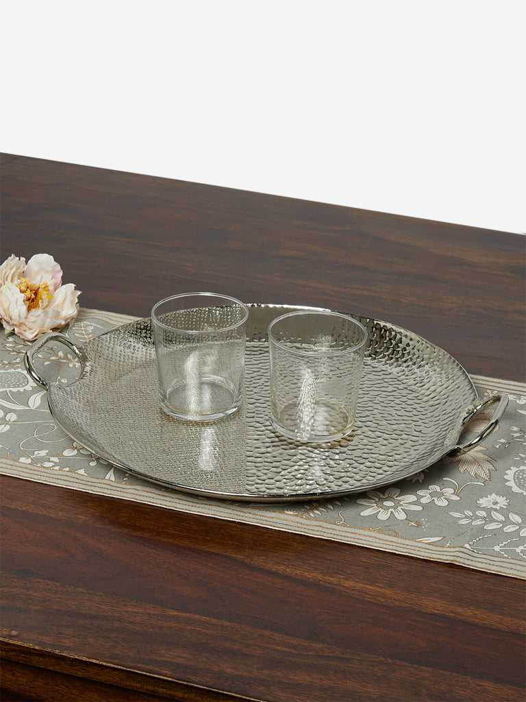 Westside Home Silver Hammered Tray