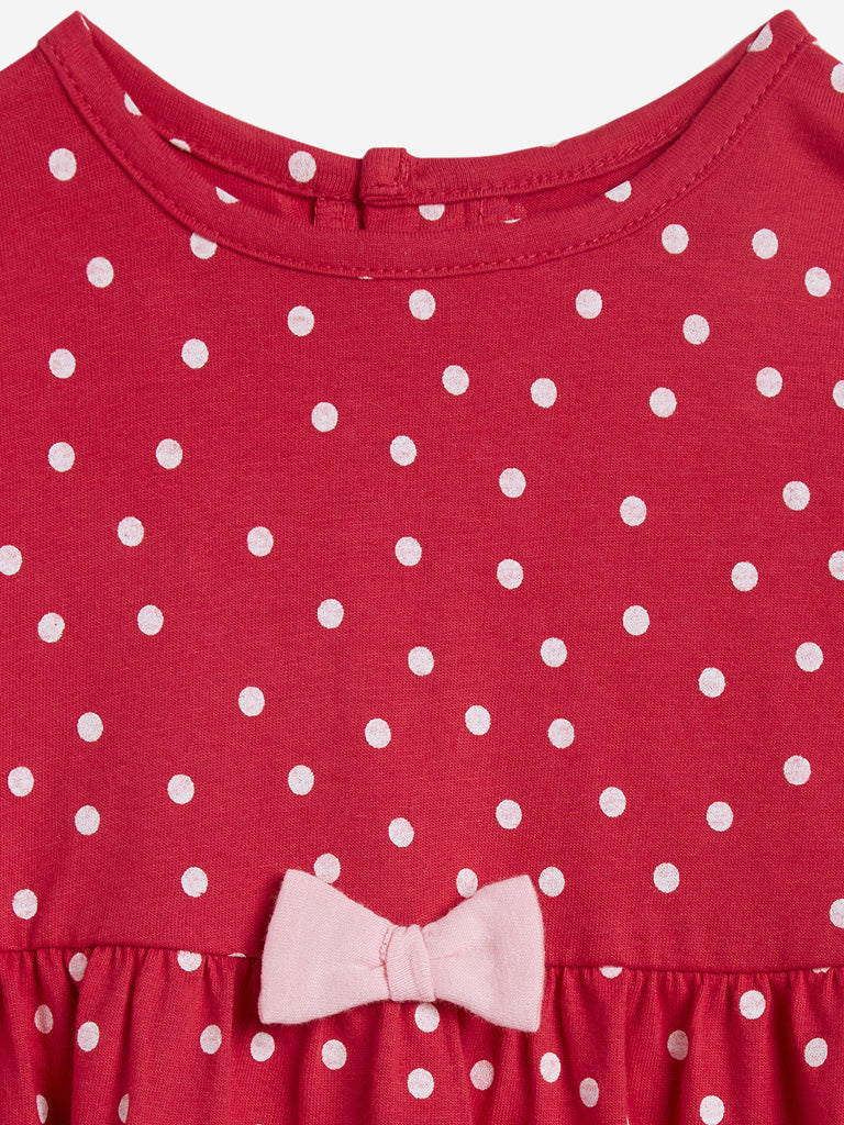 Baby HOP Red Printed Dress Set of Two