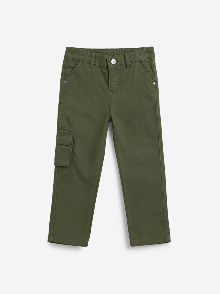 HOP Kids Olive Gunther Denim Jeans