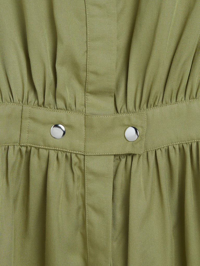 Y&F Kids Olive Shirtdress