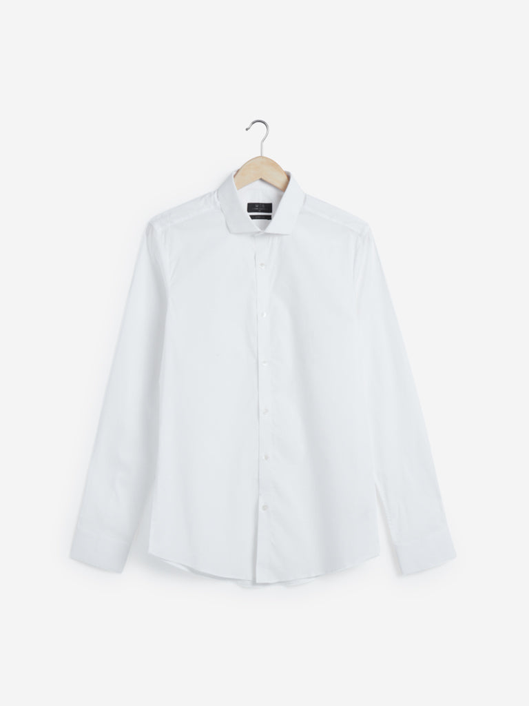 WES Formals White Ultra Slim Fit Shirt