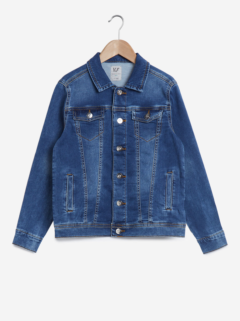 Y&F Kids Blue Denim Jacket