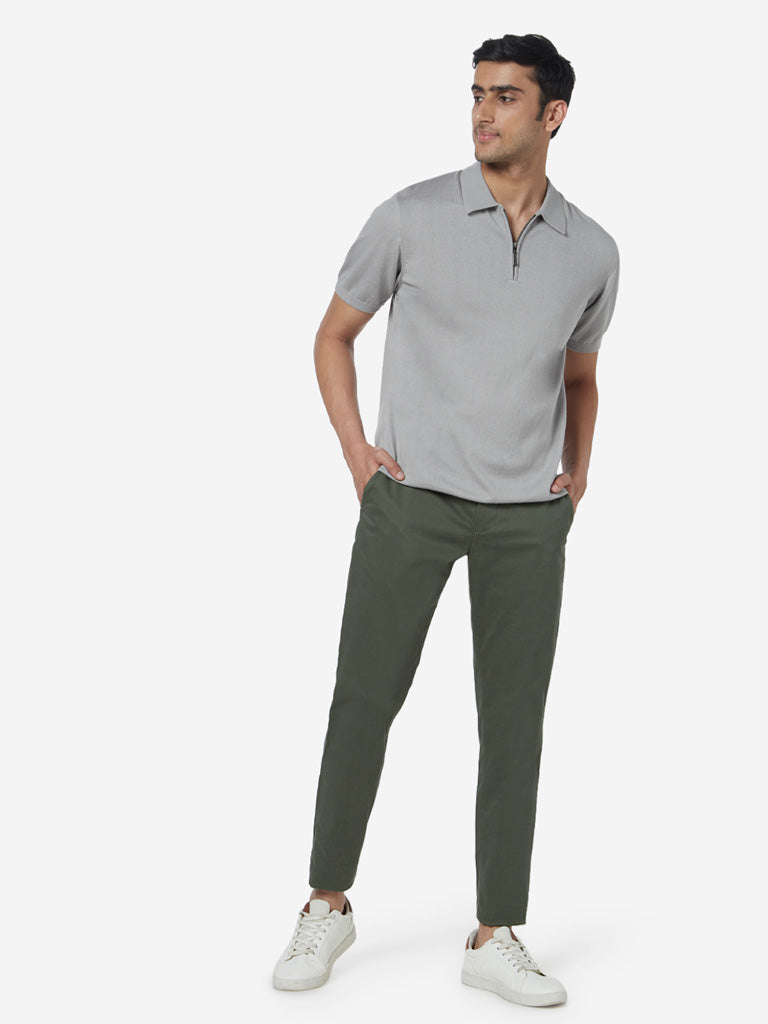Ascot Grey Relaxed-Fit Polo T-Shirt