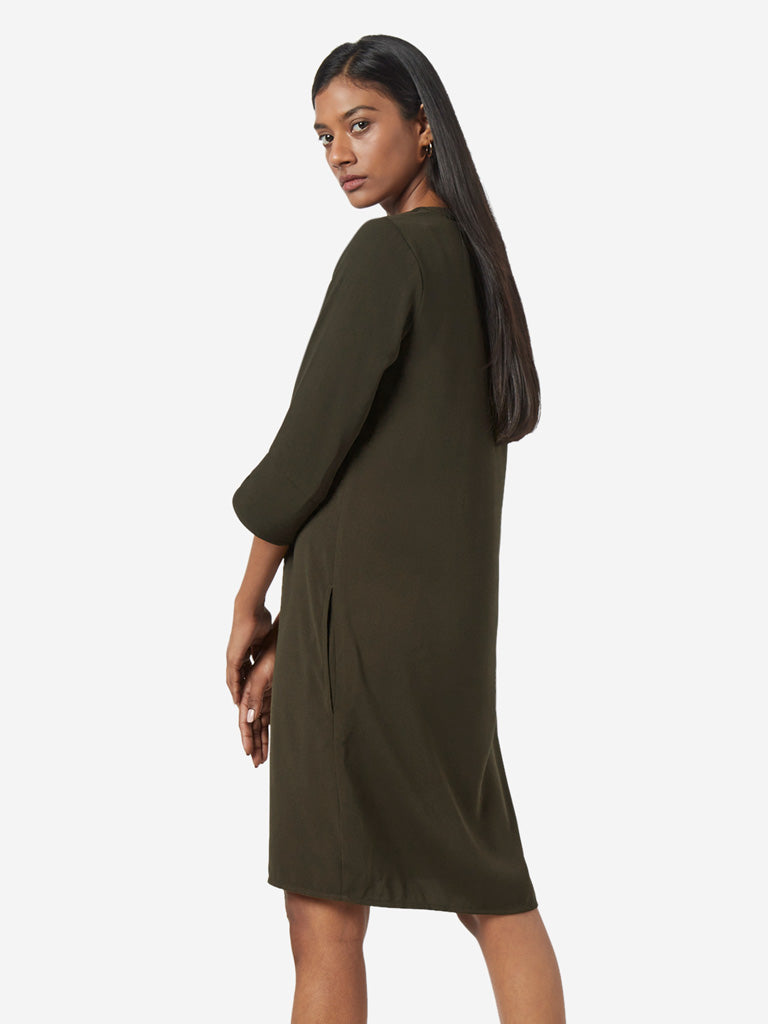 Wardrobe Khaki Heather Dress