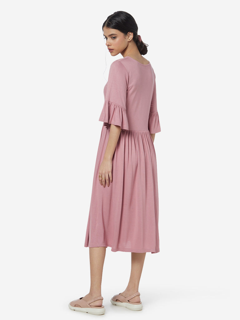 LOV Pink Fit-And-Flare Dress