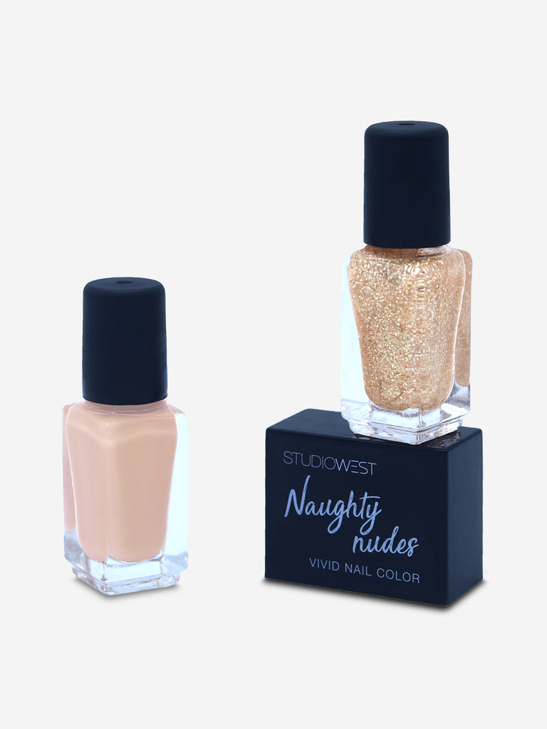 Studiowest Naughty Nudes Vivid Nail Colour - Pack of 2, Naughty Nudes 2, 9 ml