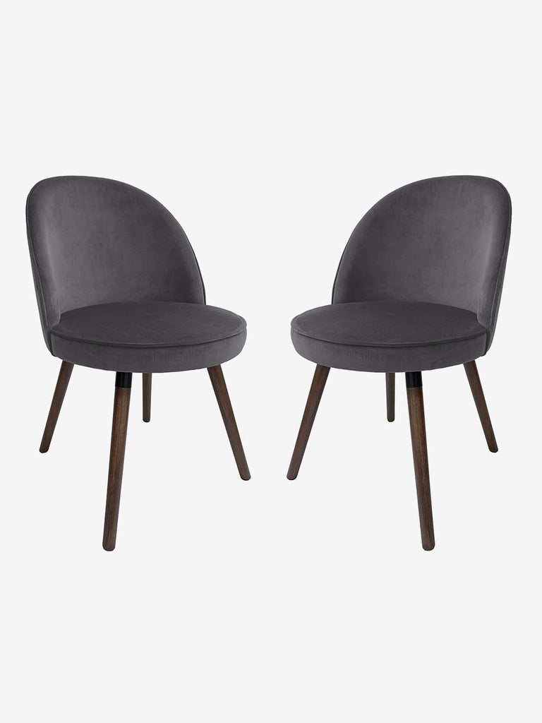 Westside Home Charcoal Bristol Dining Chair - Set of 2