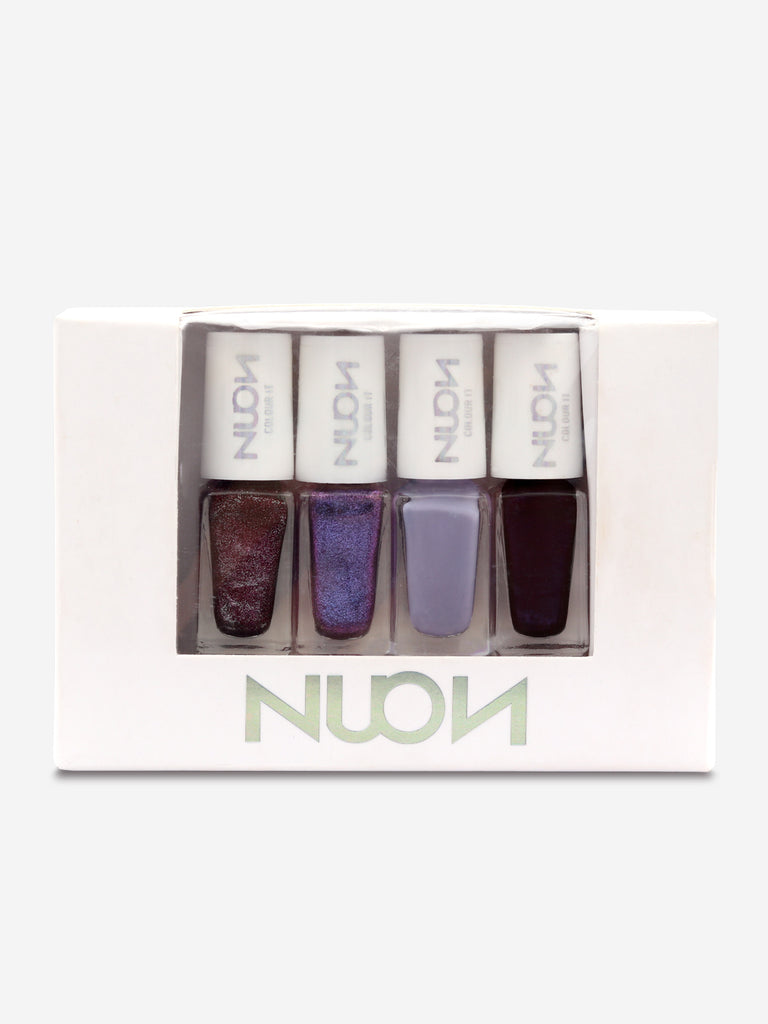 Nuon Nail Colour Pack of 4, Unicorn, 4 nailpaints X 4.5 ml