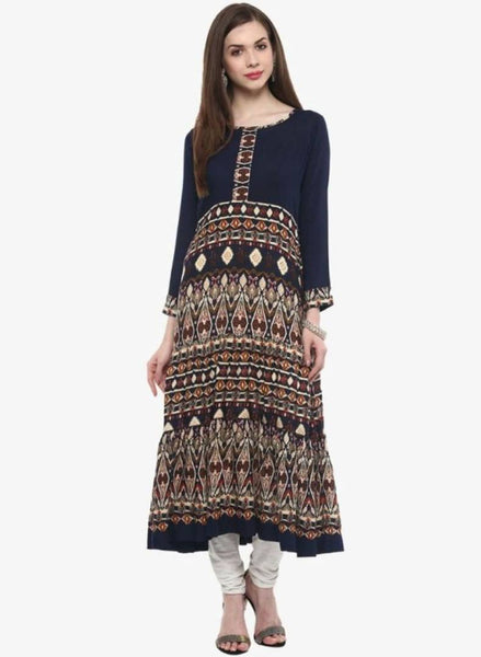 Stylish Ethnic Crepe Anarkali Kurti