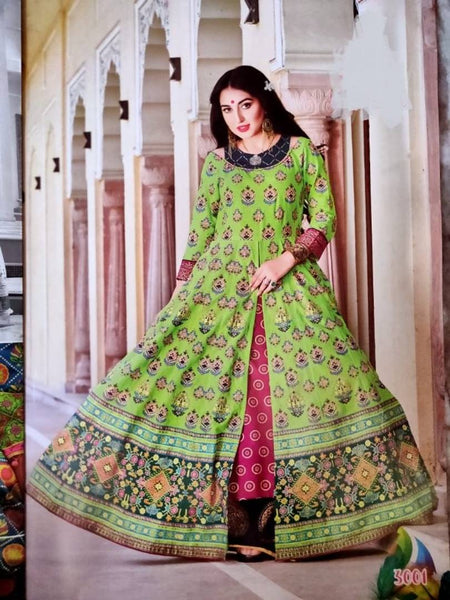 Elite Embroidered Heavy Lawn Cotton Anarkali Kurti For Women